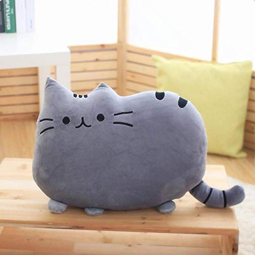 LIVIQILY Soft Plush Stuffed Animal Doll Anime Toy Cute cat Floor Pillow (Gray) by LIVIQILY