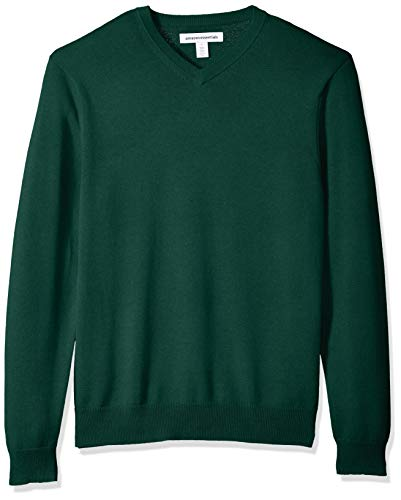 (Amazon Essentials Men's V-Neck Sweater, Dark Green, XX-Large)