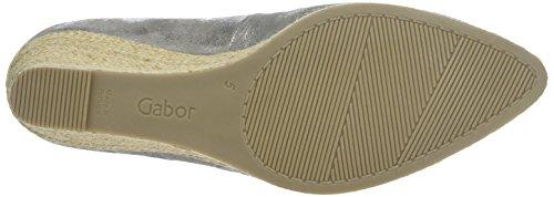 Gabor Gabor, Zapatos de Tacón de Cuña Mujer Gris (69 grau)