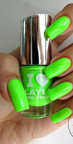 I LOVE LAYLA NAGELLACK by LAYLA - LIGHT GREEN FLUO - NEON