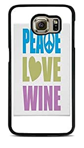 Peace Love Wine Two Black Hardshell Case for Samsung Galaxy S6 EDGE by ruishername