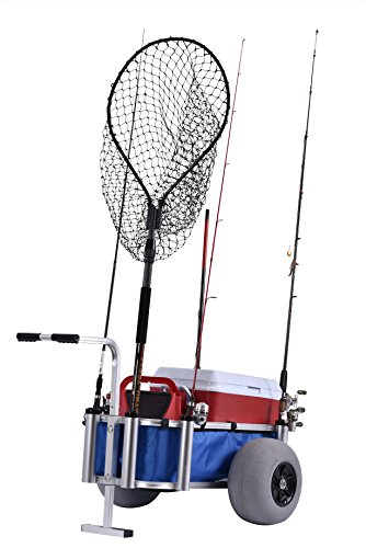 "Muscle Carts HDBC-Blue Fish and Marine Cart, 27"" Height, 40"" Width, 30"" Length,"
