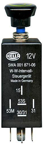 HELLA 5WA 001 871-061 regelaar, afveeg-was-interval – 5-polig