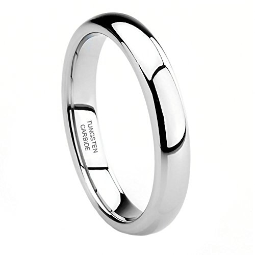 Gatlin: 3mm Comfort Fit Domed Couples His n Hers Wedding Band Ring Tungsten Carbide, 3271 sz (Best 1000 Jewels Friends Unisex Rings)