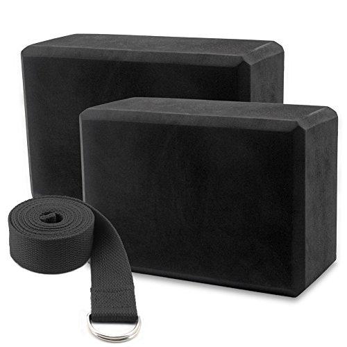 Ultra2018 Yoga Blocks Foam Bricks and Strap Set of 2 Packs High Density EVA Foam Blocks,Jump Rope Workout Speed Rope Skipping Rope for Speed Jumping Ball Bearing