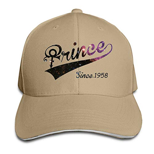 (Unisex Clean Up Adjustable Hat, Adult Adjustable Hat Prince Logo Cotton Baseball Cap)