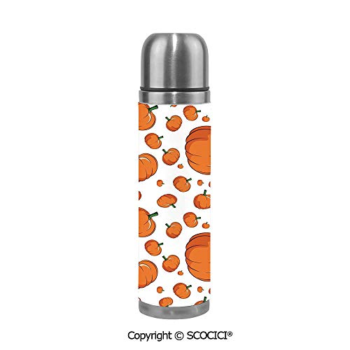 Personalized Stainless Steel Cup Halloween Inspired Pattern Vivid Cartoon Style Plump Pumpkins Vegetable Decorative Engraved Pint Cup,Groomsmen Gift, Bachelor Party Gift Favor for $<!--$29.99-->