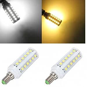 E14 5W White/Warm white 36 SMD5050 LED Corn Light Lamp Bulbs 110V --- Color:White