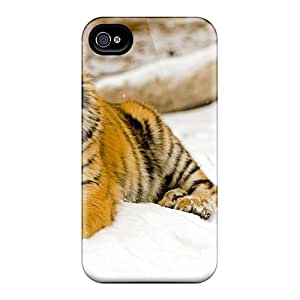 Iphone High Quality Tpu Case/ Snowy Afternoon Tiger DxURkkG-1578 Case Cover For Iphone 5/5s