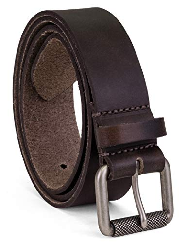 Colonial Belt Company Men's Made In The USA Casual Leather Jean Belt, dark brown, 40