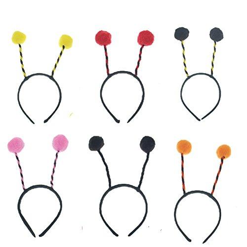 Amkaka 6 pcs Bee Antenna Headband for Christmas and Easter Party Headbands ()