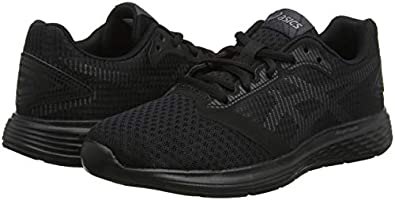 Asics Unisex Kids' Patriot 10 Gs Ls Running Shoes, Black 002, 3.5 UK ...