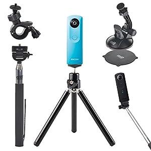mini tripod stand selfie stick monopod bike handlebar holder car suction cup. Black Bedroom Furniture Sets. Home Design Ideas