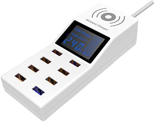 1ワイヤレス充電ステーションの2、高速スマートLED、iPhone/アプリ/サムスンや他のデバイス用の8ポートのUSBハブ、とドック主催充電QC 3.0充電