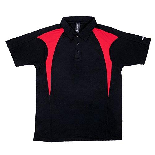 Mens Reebok ColorBlock Golf Polo 3X-Large Black/Red