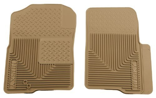Husky Liners 51233 Semi-Custom Fit Heavy Duty Rubber Front Floor Mat - Pack of 2, Tan by Husky Liners