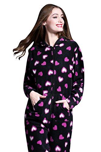 Fairee Patr Pijama Mono En Fleece Hoodie Airee Mujer Onesies Mamelucos zndgxWH4pq