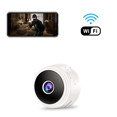 Mini Spy Camera WiFi Hidden Camera, Modernway 1080P Wireless Small Indoor Home Security Cameras Nanny Cam with Motion Detection and Night Vision