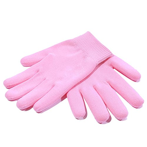 Generic 100% Cotton Overnight Moisture Gloves Spa Ultra Moisturizing Hand Gloves Spa Glove 1pair Pink by Generic