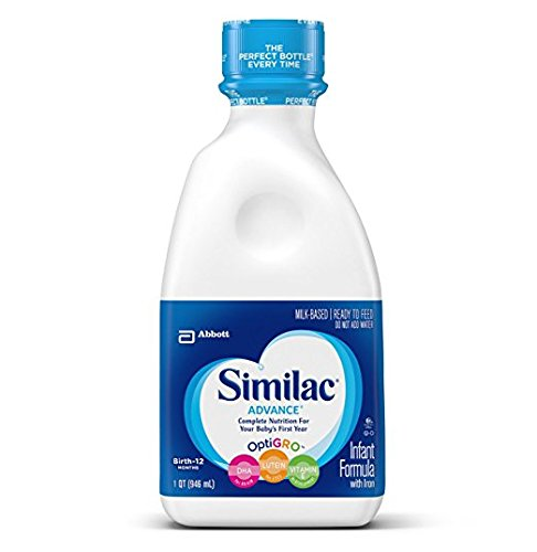 4 pack - Similac Advance Ready to Feed, Infant Formula, 32 oz per bottle