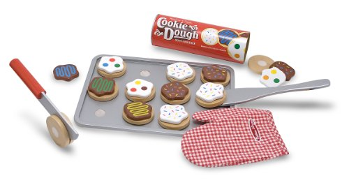 Melissa & Doug Slice-and-Bake Wooden Cookie Play Food Set, Pretend Play, Materials, 28 Pieces, 10.5