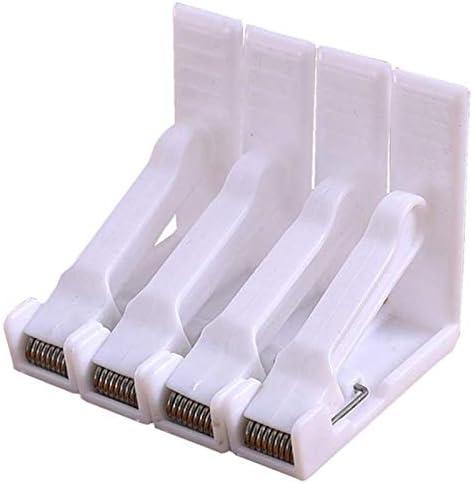 SODIAL Pince /à Nappe 16Pcs Pince /à Nappe en Plastique Blanc Ressorts Charg/éS Nappe de Table Pince /à Linge Titulaire de la Pince pour la Maison Parti Pique-Nique
