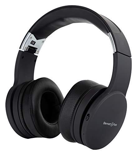 Bennett & Ross ANC-250BK Active Noise Cancelling Kopfhörer - Over Ear Bluetooth Headphones - Integrierte Freisprecheinrichtung zum Telefonieren - Inklusive Reise Etui und 3,5mm Klinkenstecker