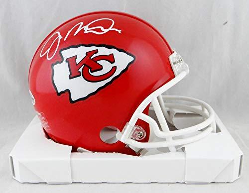 (Joe Montana Autographed Kansas City Chiefs Mini Helmet- Beckett Auth)
