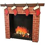 Advanced Graphics 3D Fireplace Life Size Cardboard Cutout Standup