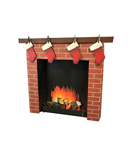 Advanced Graphics 3D Fireplace Life Size Cardboard Cutout Standup ()