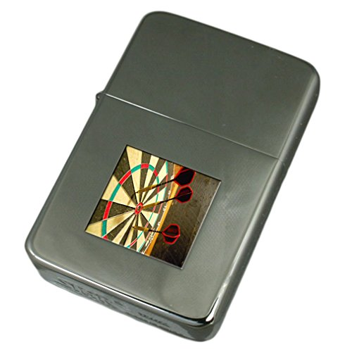 Engraved Lighter Bullseye Darts Dartboard