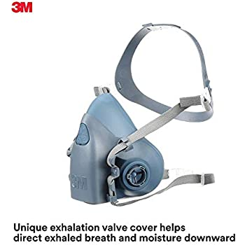 3M Large Half Facepiece Reusable Respirator 7503/37083(AAD), Respiratory Protection, Large