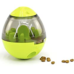 PROUD PET Interactive Treat Dispensing Toy Ball(Green) - Stimulates Brain Activity IQ, Slows Down Eating, Alternative to Slow Feeder Bowl, Perfect Gift for Any Dog & Cat Lovers