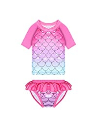 LMM Girls 3Pcs 4Pcs Swimsuit Mermaid Bikini Swimmable Princess Swimming Costume for Party Gifts 3-8Y