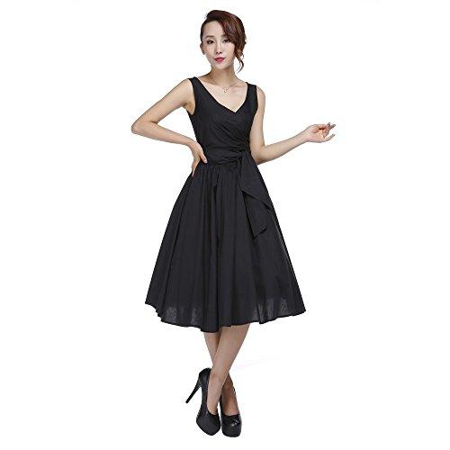 Chic Star - Vestido - envolvente - Sin mangas - para mujer