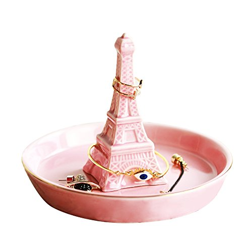 ornerx Ceramic Jewelry Ring Holder Eiffel Tower (Tower Ring Eiffel)