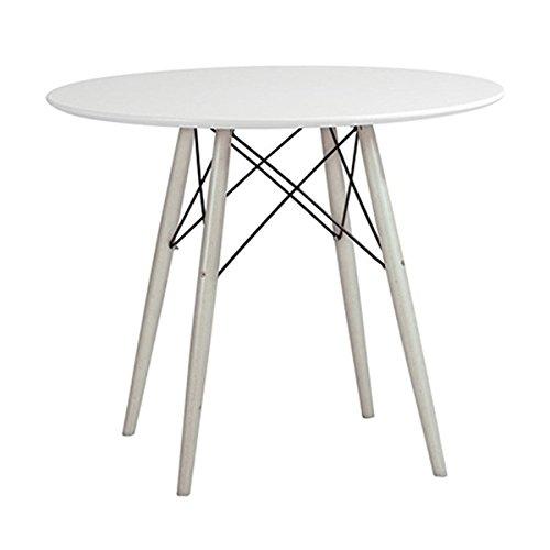 Simple Living Mid-Century Elba White Wood Table   Round Shape - Grey, White