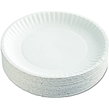 AJM Packaging Corporation PP9GRAWH Paper Plates 9  Diameter White 12 Packs of 100 (Case of 1200)  sc 1 st  Amazon.com & Amazon.com: Dixie 702622WNP6 White 6