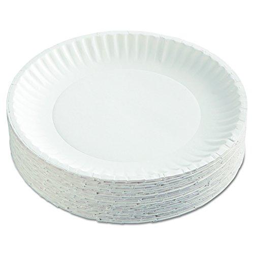 AJM Packaging Corporation PP9GRAWH Paper Plates, 9