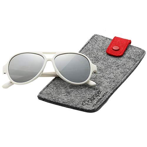 Polarspex Pilot Kids Polarized Bendable Sunglasses for Boys and Girls - BPA Free