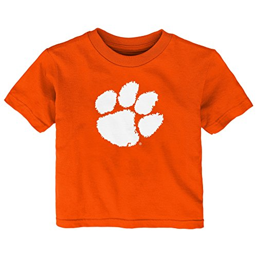 Gen 2 NCAA Clemson Tigers Infant Primary Logo Short Sleeve Tee, 24 Months, Orange