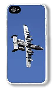 Air Attack Aircraft Custom iPhone 4S Case Back Cover, Snap-on Shell Case Polycarbonate PC Plastic Hard Case white