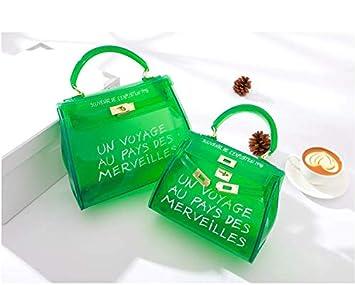 2cb96a5897f OneMoreT Sac à main à bandoulière pour femme Transparent Alphabet s Vert   Amazon.fr  Instruments de musique