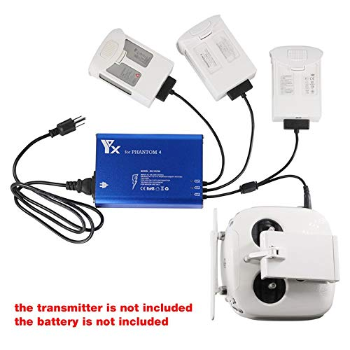 Wikiwand 4 in 1 Parallel Hub Intelligent Battery Charger for Phantom 4 RC Drone by Wikiwand (Image #2)