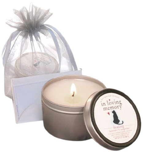 Luxepets In Loving Memory, Pet Lovers Cat Memorial Candle