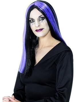 Artículos de la peluca de la peluca de bruja negro colour rojo roja para mujer de