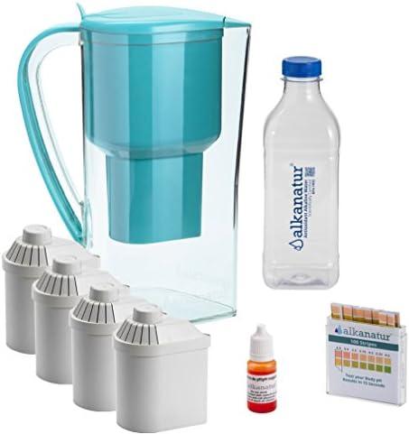Pack Alkanatur para alcalinizar, depurar e ionizar agua. pH hasta 9,5. ORP - 700mV. Libre de Bisphenol A. Duración filtros 1600 L.: Amazon.es: Hogar