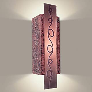 product image for A19 Squiggle Wall Sconce, 3.25-Inch by 4.25-Inch by 15.5-Inch, Plum Jam/Amethyst