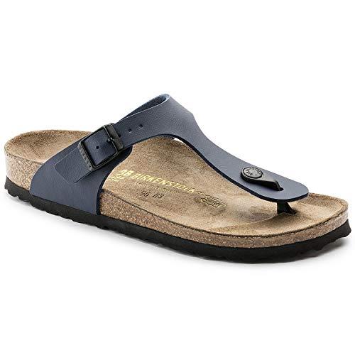 Birkenstock Gizeh Birko-Flor, Style-No. 143621, Unisex Sandals, Blue Navy BirkoFlor, EU 35, Regular width
