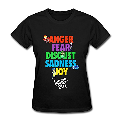 LianJian Disney Inside Out Character Women's T-Shirt Medium Black Womens